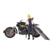 Final Fantasy. Фигурка персонажа Cloud Strife с мотоциклом