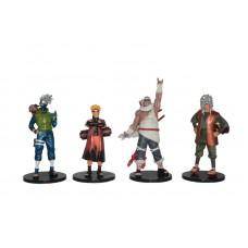 Naruto. Набор из 4 фигурок Kakashi, Jiraiya, Naruto, KillerB