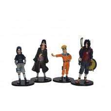 Naruto. Набор из 4 фигурок Naruto, Sasuke, Itachi, Marada