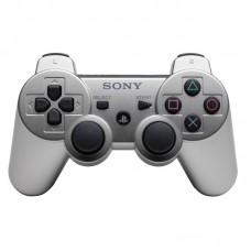 Джойстик беспроводной для PS3, серебряный