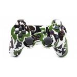 Джойстик беспроводной для PS3, камуфляж белый-черный-зеленый