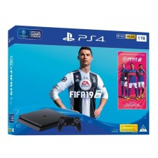 Sony PlayStation 4 Slim  500 ГБ Black + Fifa 19 CUH-2216A