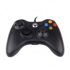 Джойстик проводной для Xbox 360 черный