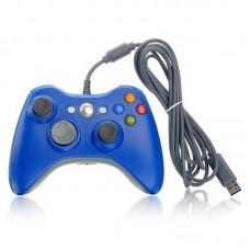 Джойстик проводной для Xbox 360 синий