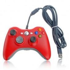 Джойстик проводной для Xbox 360 красный
