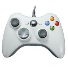 Джойстик проводной для Xbox 360 белый