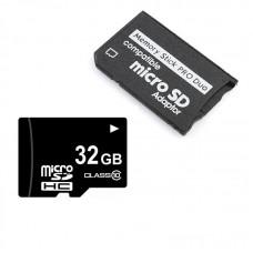 microSD 32Gb + Переходник MicroSD Memory Stick PRO