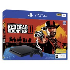 Sony PlayStation 4 Slim 1 Tb  + Red Dead Redemption 2 Black CUH-2216B