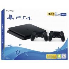Sony PlayStation 4 Slim 500 ГБ  + Controller  Black CUH-2216A