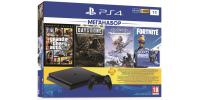 Sony PlayStation 4 Slim 1ТБ Black + GTA V + Жизнь После + Horizon: Zero Dawn + PS Plus 90 дней CUH-2208B
