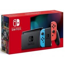 Nintendo Switch неоновый красный / неоновый синий новая ревизия