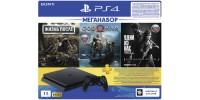 Sony PlayStation 4 Slim 1ТБ Black + Жизнь После + God of War + Одни из Нас + PS Plus 90 дней CUH-2208B
