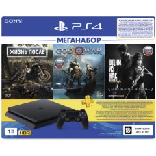 Sony PlayStation 4 Slim 1ТБ Black + Жизнь После + God of War + Одни из Нас + PS Plus 90 дней CUH-2208B