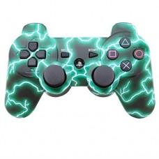 Джойстик беспроводной для PS3, Зеленые молнии
