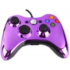 Джойстик проводной для Xbox 360 хром фиолетовый