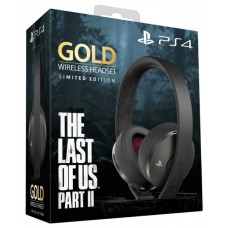 Гарнитура беспроводная Sony Gold Wireless Headset The Last Of Us Part II: Limited Edition беспроводная для PS4 (черный стальной, матовое покрытие) (CUHYA-0080)