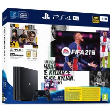 Sony PlayStation 4 Pro 1TB  Black + игра FIFA 21 + второй джойстик Dualshock 4 CUH-7216B