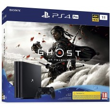 Sony PlayStation 4 Pro 1TB  Black + Призрак Цусимы CUH-7216B