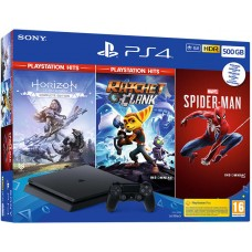 Sony PlayStation 4 Slim 500Gb Black (CUH-2216A) + Horizon Zero Dawn Complete Edition + Ratchet & Clank + Marvel's Spider-man