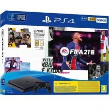 Sony PlayStation 4 Slim 500Gb Black (CUH-2216A) + дополнительный контроллер (черный) + Игра FIFA 21
