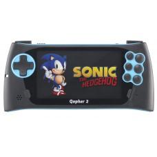 """SEGA Genesis Gopher 2 LCD 4.3"""" + 500 игр синяя"""