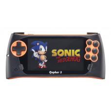 """SEGA Genesis Gopher 2 LCD 4.3"""" +500 игр оранжевая"""