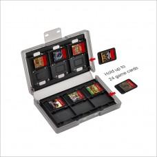 Футляр для 24 картриджей + сменные накладки на стики для консоли Nintendo Switch (Dobe TNS-1844)