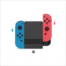Подзаряжающий держатель Joy-Con для Nintendo Switch Dobe TNS-878C