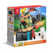Nintendo Switch красно-синий + Ring Fit Adventures