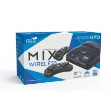 Dinotronix Mix Wireless + 470  игр (AV, 2 беспроводных джойстика)